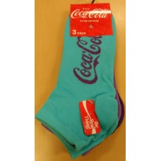 sneaker socks with Lurex script blue & purple 3-pack size 35-38'